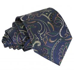 Navy & Green Cypress Paisley Classic Tie