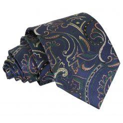 Navy & Green Cypress Paisley Classic Tie