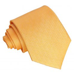 Marigold Greek Key Patterned Classic Tie