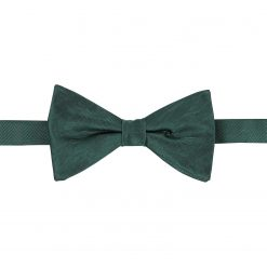 Dark Green Herringbone Silk Pre-Tied Thistle Bow Tie