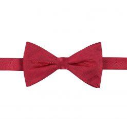 Red Herringbone Silk Pre-Tied Thistle Bow Tie
