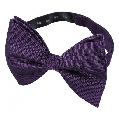 Cadbury Purple Panama Silk Pre-Tied Butterfly Bow Tie