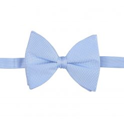 Light Blue Panama Silk Pre-Tied Butterfly Bow Tie