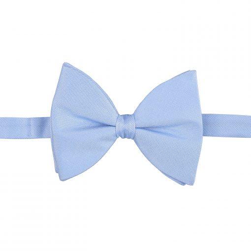 Light Blue Panama Silk Pre-Tied Butterfly Bow Tie