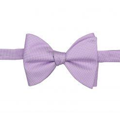 Lilac Panama Silk Self Tie Butterfly Bow Tie