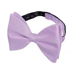Lilac Panama Silk Pre-Tied Butterfly Bow Tie