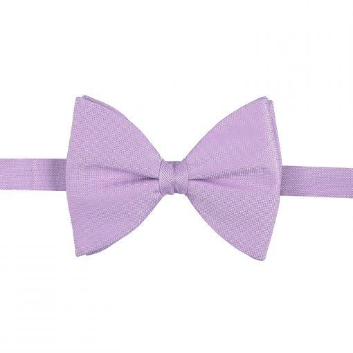 Lilac Panama Silk Pre-Tied Butterfly Bow Tie