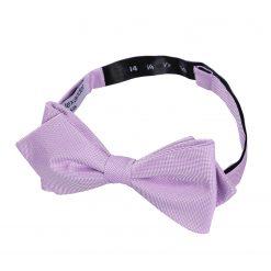 Lilac Panama Silk Pre-Tied Pointed Bow Tie