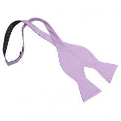 Lilac Panama Silk Self Tie Thistle Bow Tie