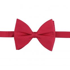 Strawberry Red Panama Silk Pre-Tied Butterfly Bow Tie