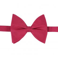 Tango Red Panama Silk Pre-Tied Butterfly Bow Tie