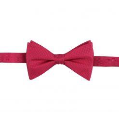 Tango Red Panama Silk Pre-Tied Thistle Bow Tie