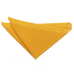 Marigold Yellow Knitted Pocket Square