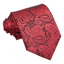 Black & Red Paisley Classic Tie