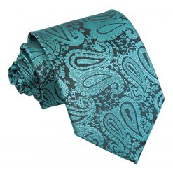 Teal Paisley Classic Tie