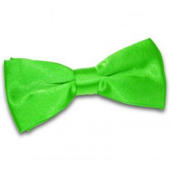 Apple Green Satin Pre-Tied Thistle Bow Tie