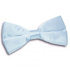 Baby Blue Satin Pre-Tied Thistle Bow Tie