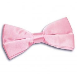 Baby Pink Satin Pre-Tied Thistle Bow Tie