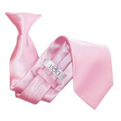 Baby Pink Satin Clip On Tie