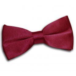 Burgundy Satin Pre-Tied Thistle Bow Tie