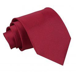 Burgundy Satin Extra Long Tie