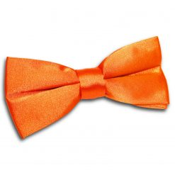 Burnt Orange Satin Pre-Tied Thistle Bow Tie