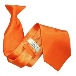 Burnt Orange Satin Clip On Tie