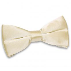 Champagne Satin Pre-Tied Thistle Bow Tie
