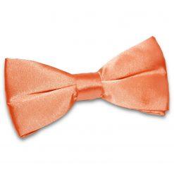 Coral Satin Pre-Tied Thistle Bow Tie