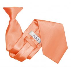 Coral Satin Clip On Tie