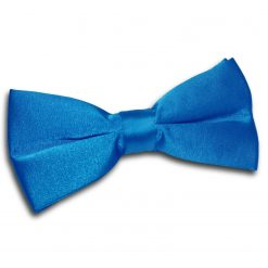 Electric Blue Satin Pre-Tied Thistle Bow Tie
