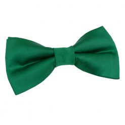 Emerald Green Satin Pre-Tied Thistle Bow Tie