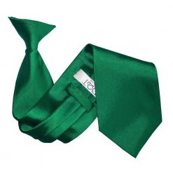 Emerald Green Satin Clip On Tie