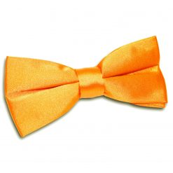 Fluorescent Orange Satin Pre-Tied Thistle Bow Tie