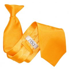 Fluorescent Orange Satin Clip On Tie