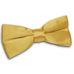 Gold Satin Pre-Tied Thistle Bow Tie