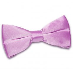 Lilac Satin Pre-Tied Thistle Bow Tie