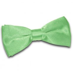 Lime Green Satin Pre-Tied Thistle Bow Tie