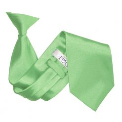 Lime Green Satin Clip On Tie