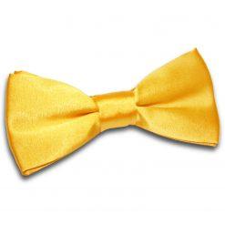 Marigold Satin Pre-Tied Thistle Bow Tie