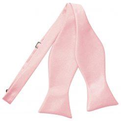 Baby Pink Satin Self Tie Thistle Bow Tie