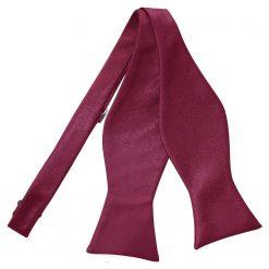 Burgundy Satin Self Tie Thistle Bow Tie