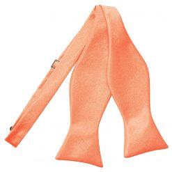 Coral Satin Self Tie Thistle Bow Tie