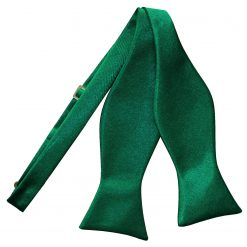 Emerald Green Satin Self Tie Thistle Bow Tie