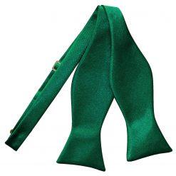 Emerald Green Satin Self Tie Thistle Bow Tie