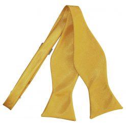 Gold Satin Self Tie Thistle Bow Tie