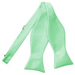 Mint Green Satin Self Tie Thistle Bow Tie