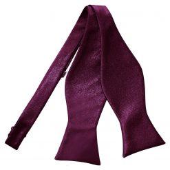 Plum Satin Self Tie Thistle Bow Tie