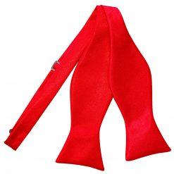 Red Satin Self Tie Thistle Bow Tie