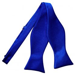 Royal Blue Satin Self Tie Thistle Bow Tie